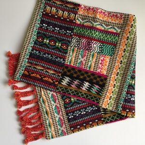 World Market Bohemian Embroidered Tablerunner